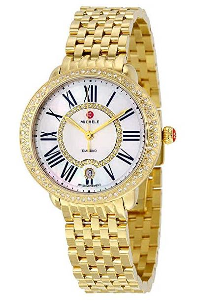 Michele Serein Diamond Gold-Tone Ladies Watch