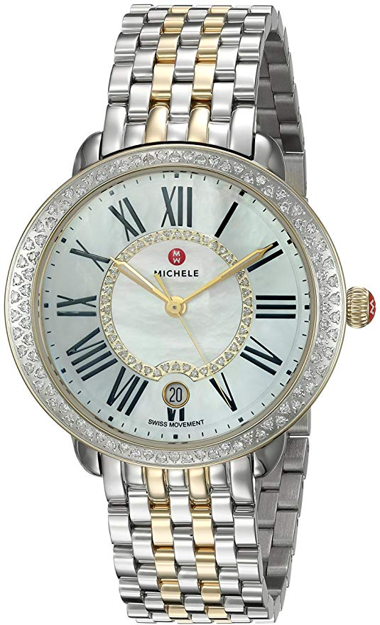 Michele Serein Diamond Two-Tone Ladies Watch
