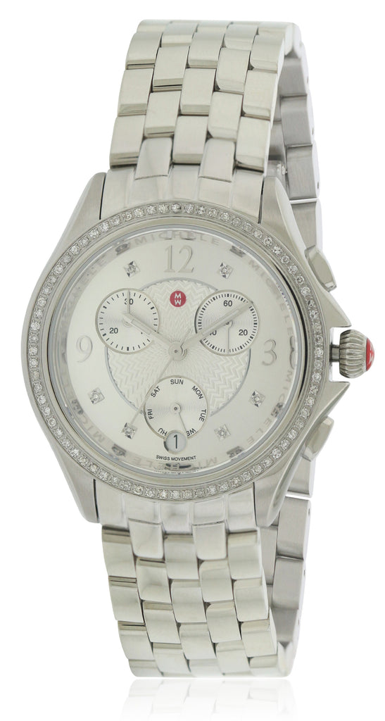 Michele Belmore Chronograph Stainless Steel Ladies Watch