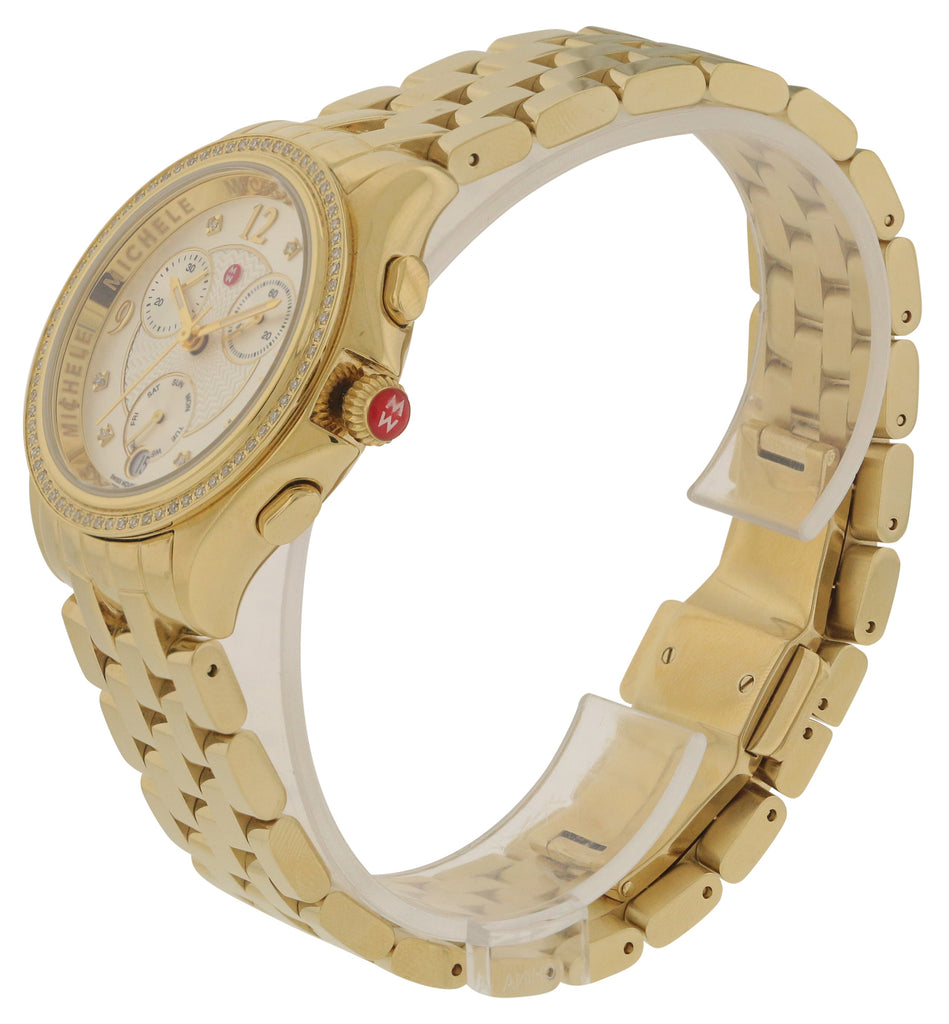 Michele Belmore Chronograph Gold-Tone Ladies Watch