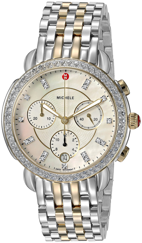 Michele Sidney Chronograph Diamond Ladies Watch