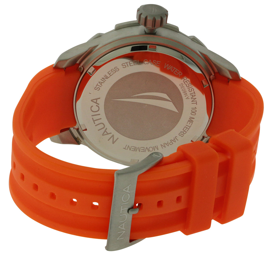Nautica BFD 100 Orange and   Black Mens Watch