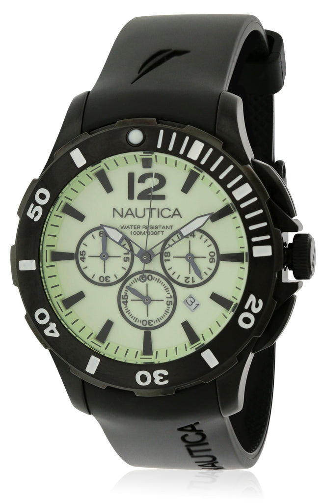 Nautica BFD 101 Black Resin   Mens Watch