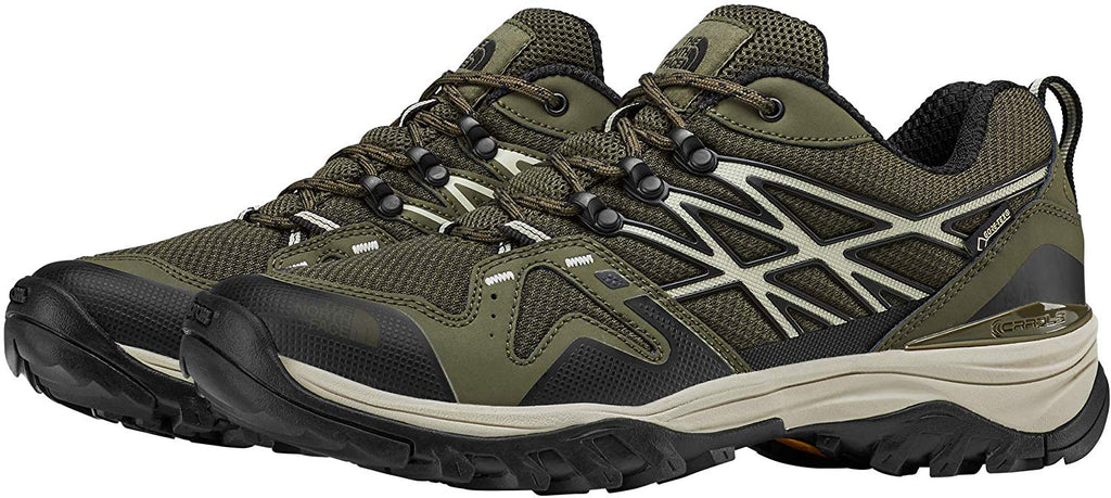The North Face Mens Hedgehog Fastpack GTX Hiking Shoe - New Taupe Green/TNF Black - Size - 10.5