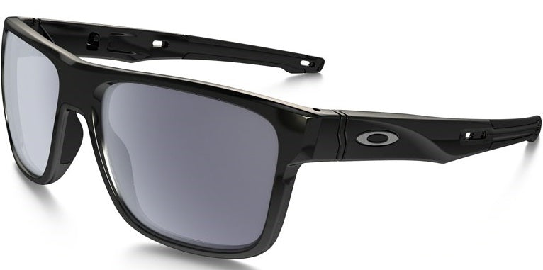 Oakley Crossrange Polished Black/Grey Unisex Sunglasses -