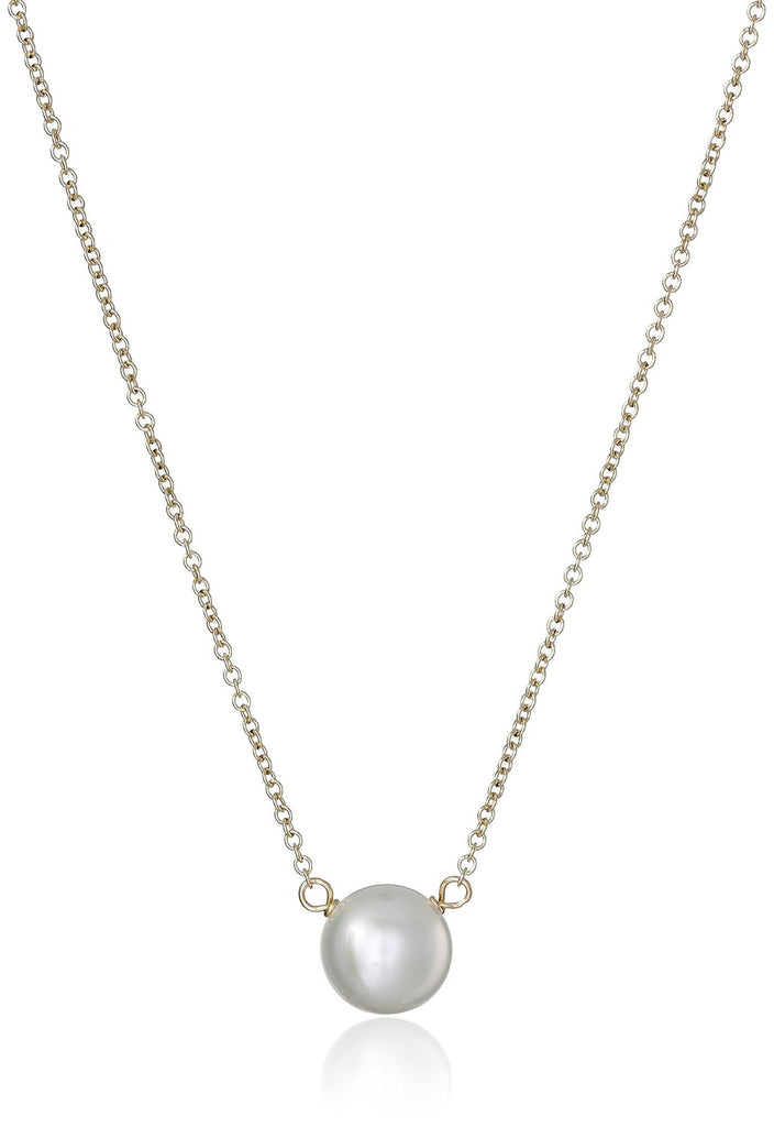 Dogeared Pearls of Love Gold 8mm Freshwater Pearl Necklace -