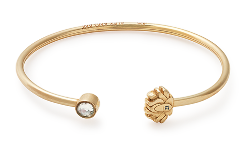 Alex and Ani Lotus Peace Petals CUFF 14kt Gold Plated Cuff Bangle -