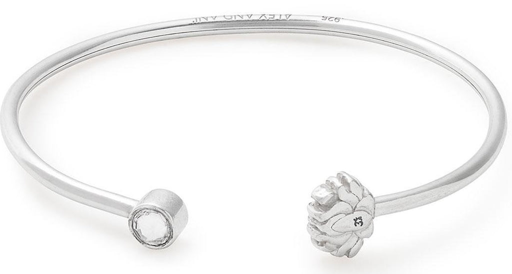 Alex and Ani Lotus Peace Petals Cuff - Sterling Silver -