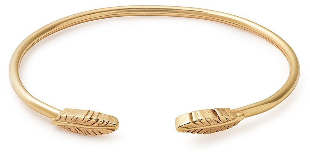 Alex And Ani Feather Cuff - 14K GP -