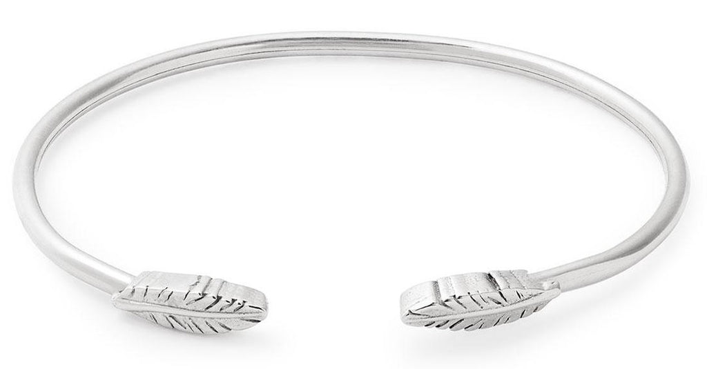 Alex and Ani Feather Cuff - Sterling Silver -