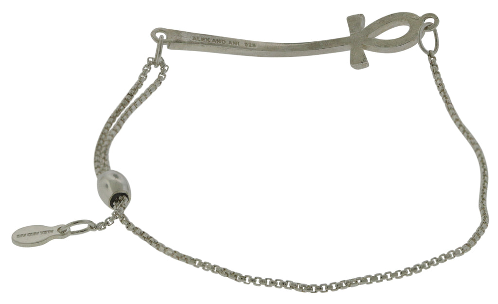 Alex And Ani Ankh Pull Chain Bracelet -