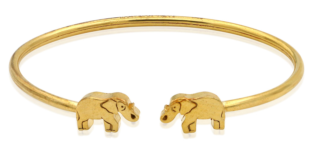 Alex And Ani Elephant Cuff - 14KT Gold Plated Bracelet -