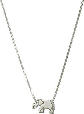 Alex And Ani Elephant 18 in. Adjustable Necklace - Sterling Silver -