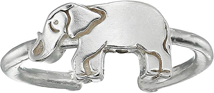 Alex And Ani Elephant Adjustable Ring - Sterling Silver -
