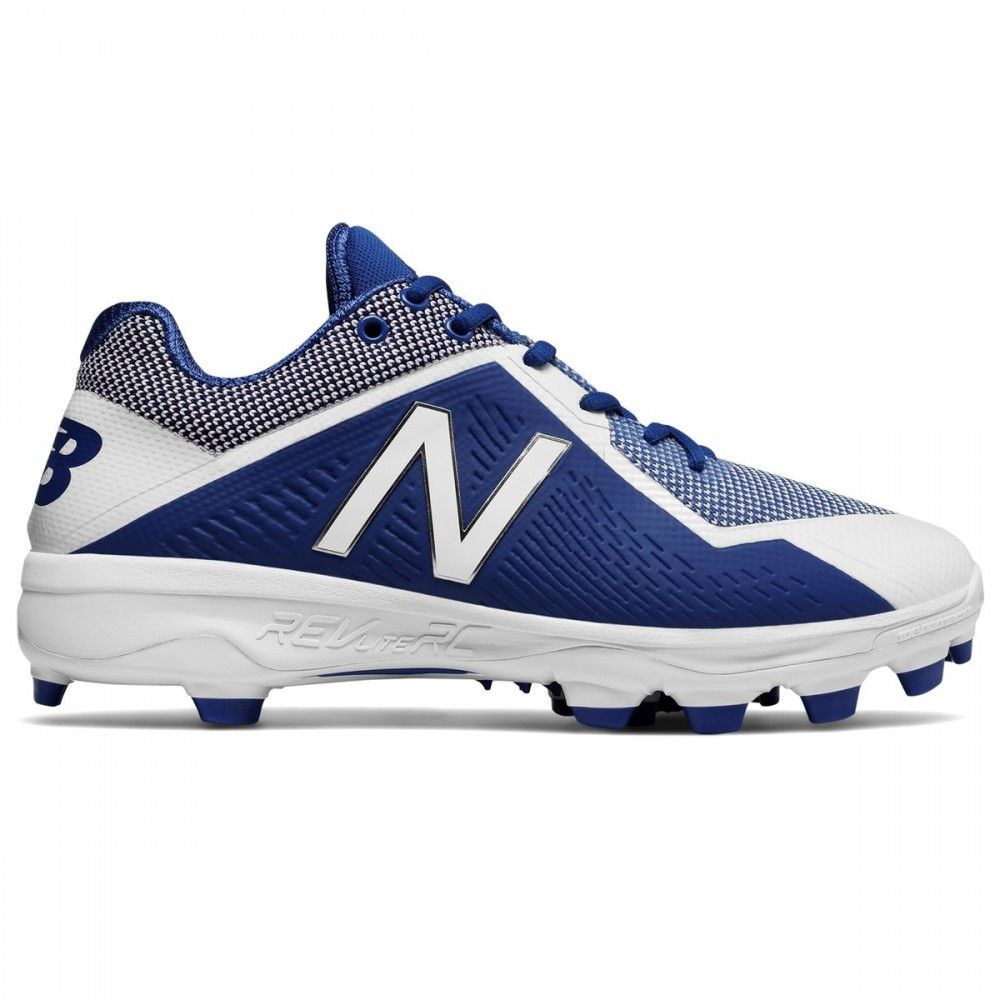 New Balance PL4040v4 Mens Low TPU Molded Cleats - Royal/White - Size 10.5