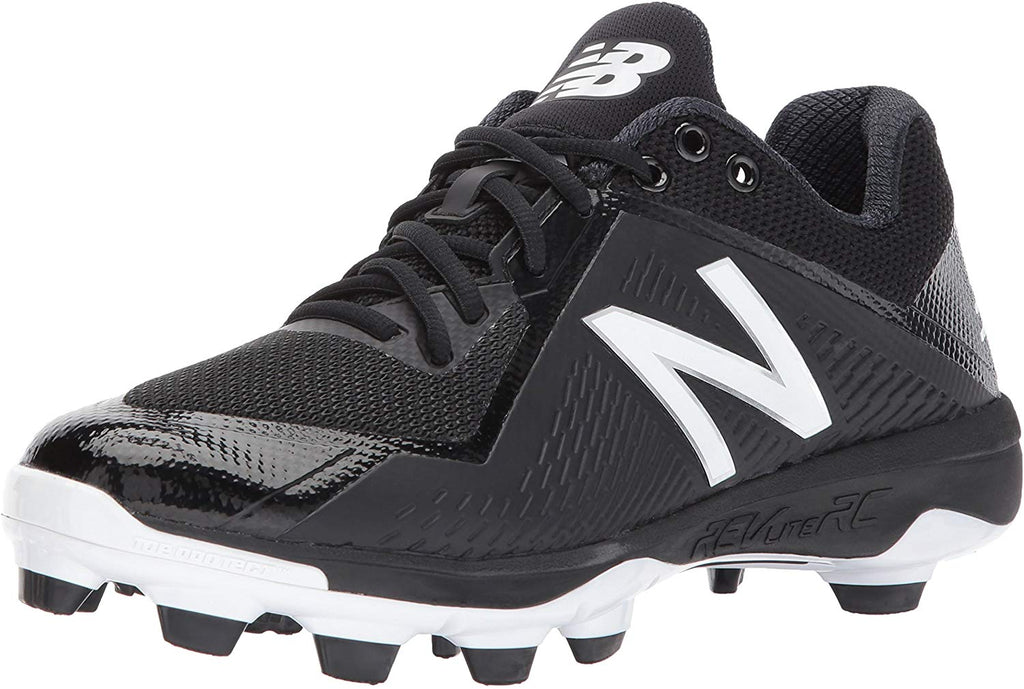 New Balance PL4040v4 Molded Baseball Mens Shoe Sneaker - Black/White - Size 11.5