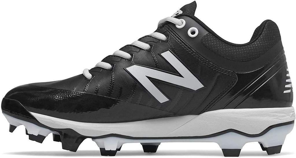 New Balance Mens 4040v5 Molded Baseball Shoe - Black/White - 10