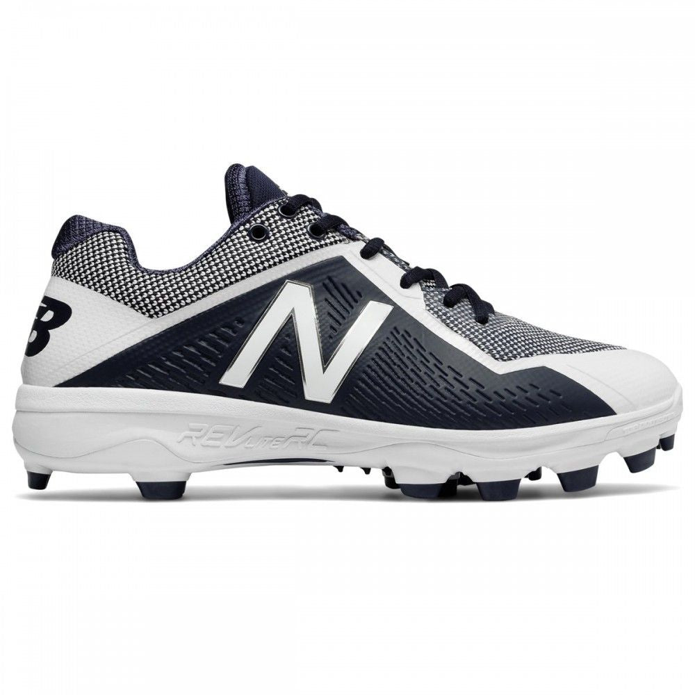 New Balance PL4040v4 Mens Low TPU Molded Cleats - Navy/White - Size 11