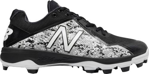 New Balance Mens 4040 V4 Pedroia TPU Baseball Cleats Black Camo - Size 11.5