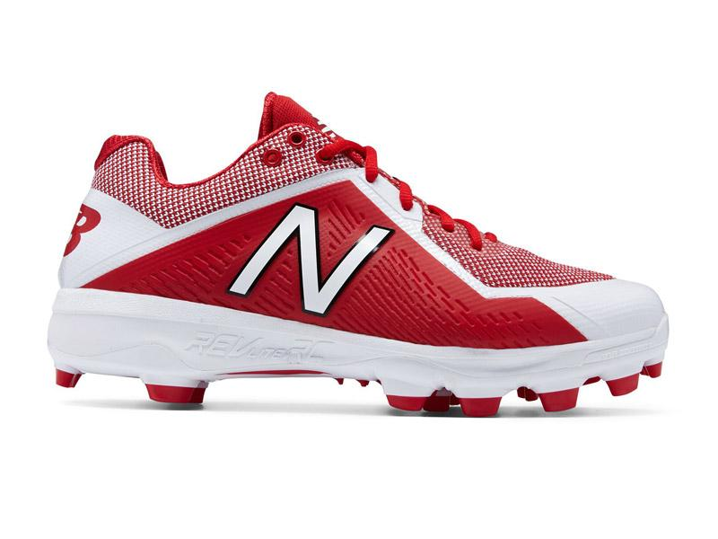 New Balance Mens 4040 V4 TPU Baseball Cleats Red/White - Size 10.5