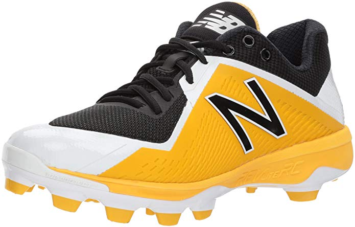 New Balance Mens 4040 V4 TPU Baseball Cleats -  Black/Yellow - Size 10
