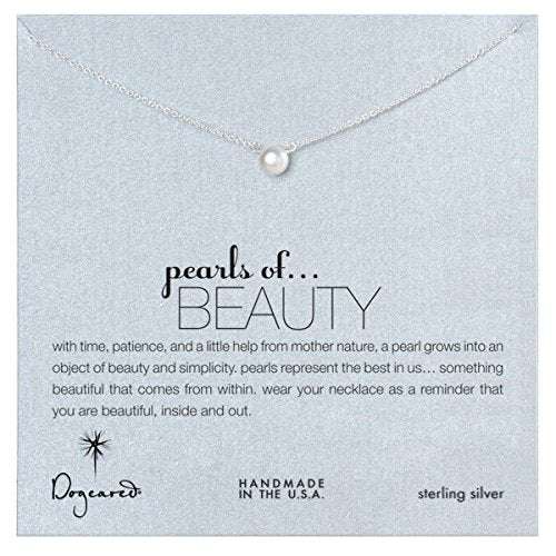 Dogeared Pearls of Beauty White Pearl Sterling Silver Necklace -