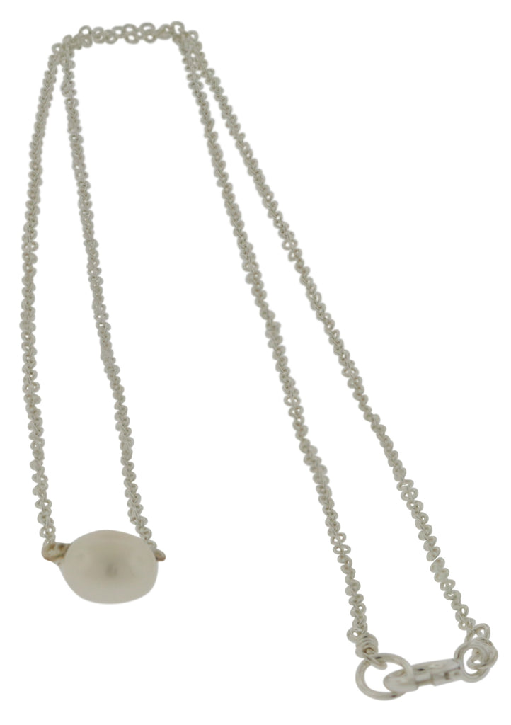 Dogeared Pearls of Wisdom White Pearl Sterling Silver Necklace -