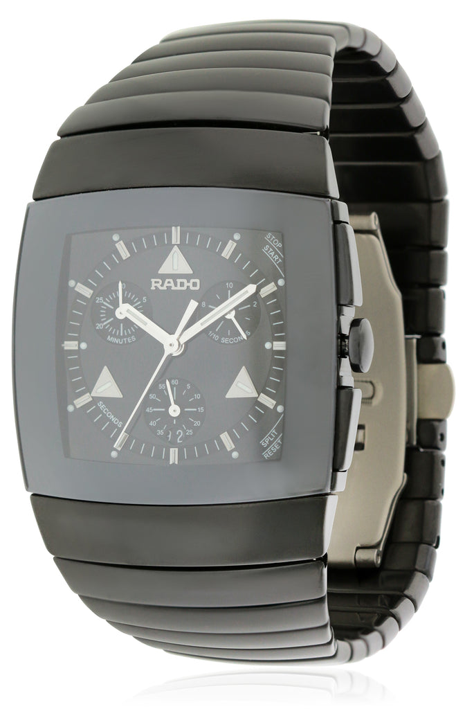 Rado Sintra Black Ceramic Chronograph Mens Watch