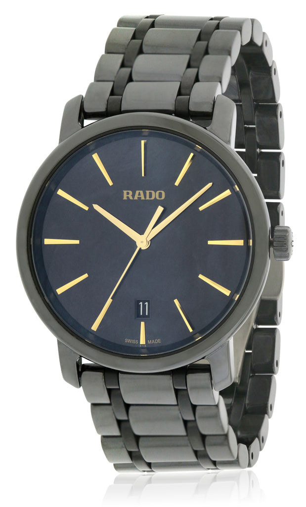 Rado Diamaster XL Black Ceramic Mens Watch