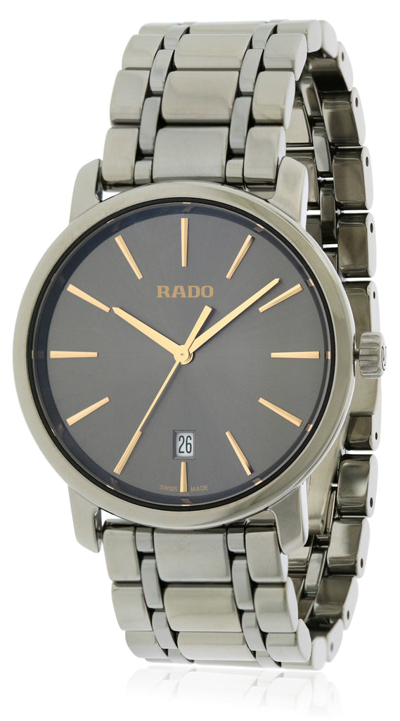 Rado Diamaster XL Plasma High-tech Ceramic Mens Watch