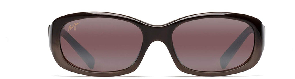 Maui Jim Womens Punchbowl Rectangular Sunglasses - Chocolate Fade/Maui Rose Polarized - Small