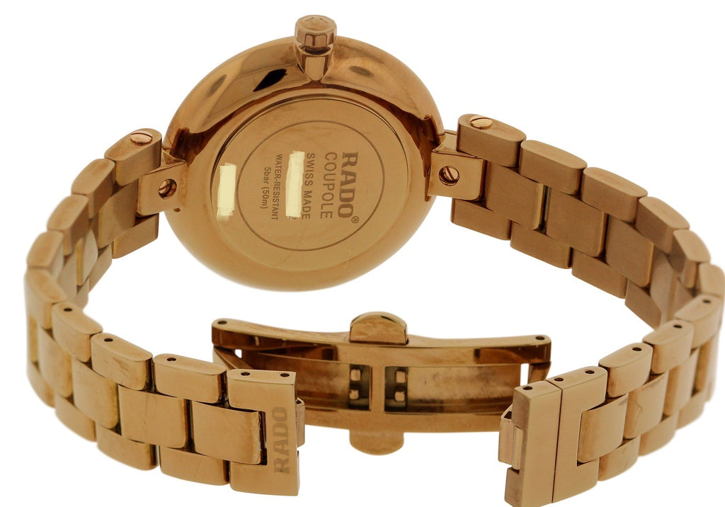 Rado Couploe Rose Gold-Tone Stainless steel Ladies Watch