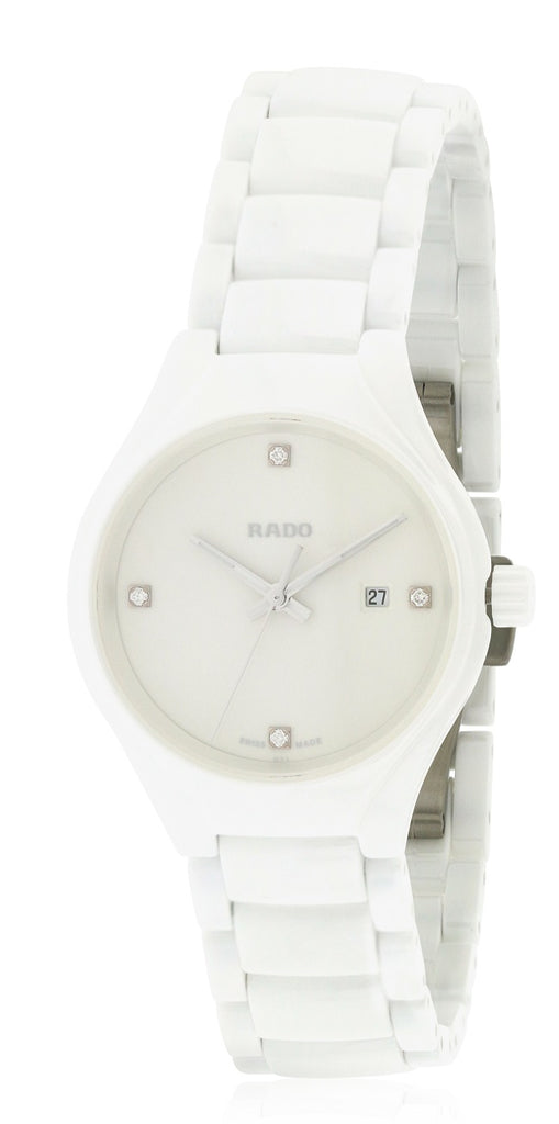 Rado True White Ceramic Ladies Watch