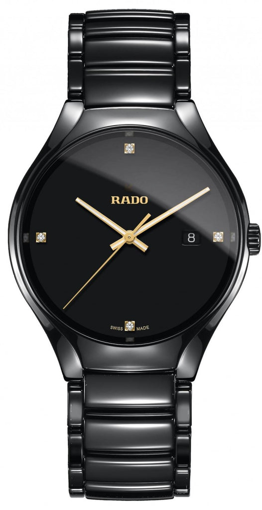 Rado True Black Ceramic Mens Watch