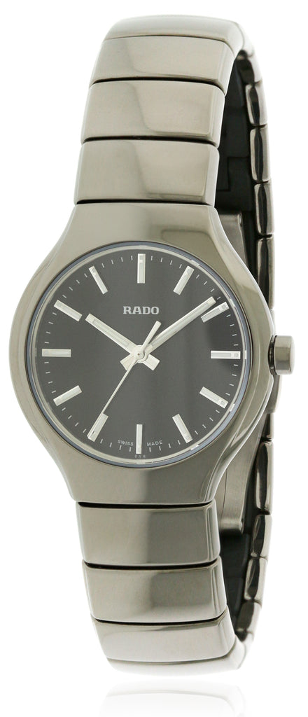 Rado True Silver -Tone Ceramic Unisex Watch
