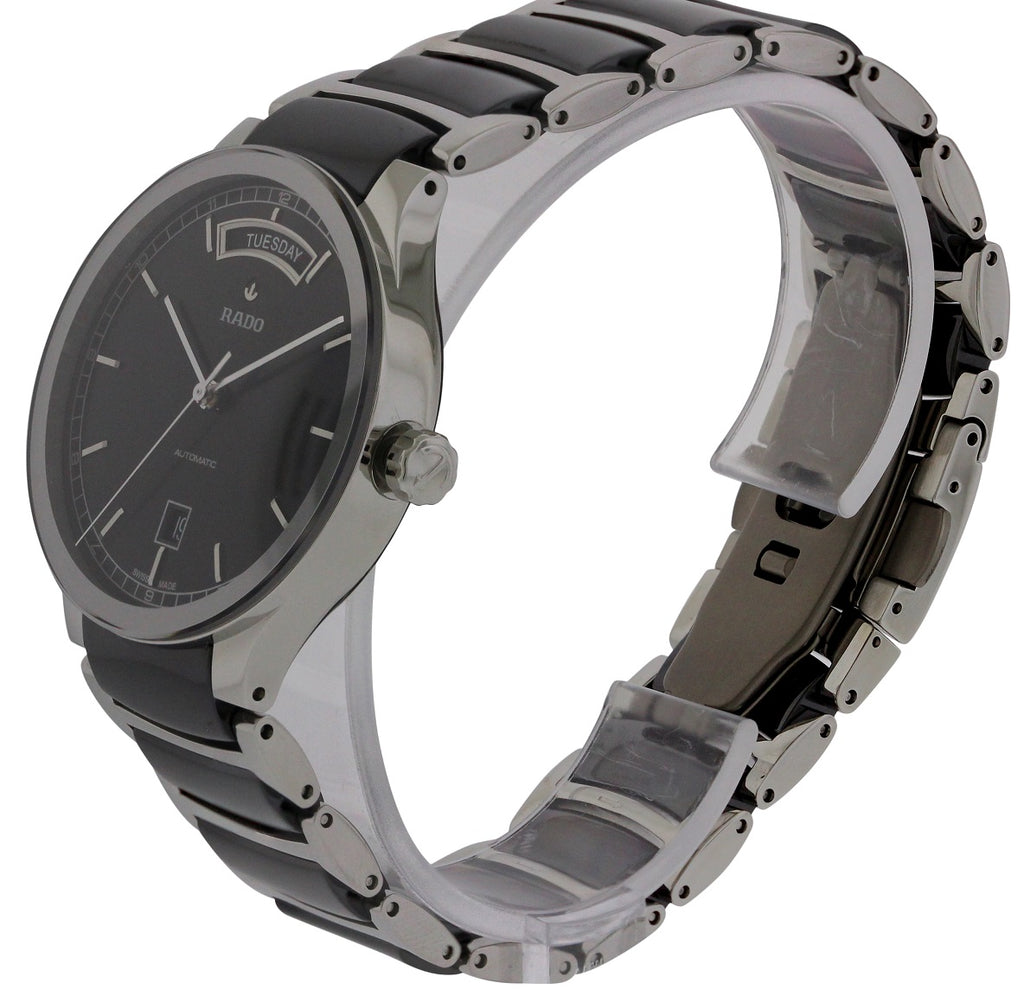 Rado Centrix Stainless Steel and Black Ceramic Automatic Mens Watch