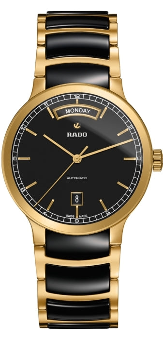 Rado Centrix Gold-Tone And Ceramic Automatic Mens Watch