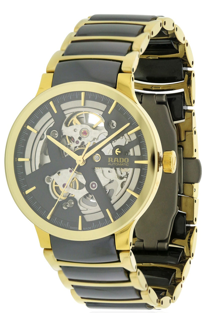 Rado Centrix Gold-Tone Steel and Ceramic Automatic Mens Watch