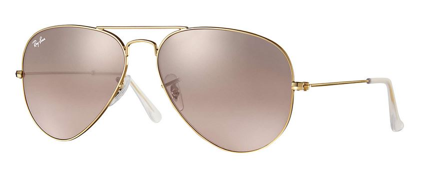 Ray-Ban AVIATOR GRADIENT Pink Mirror Sunglasses -