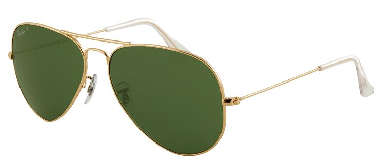 Ray-Ban Gold Aviator Mens Sunglasses