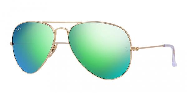 Ray-Ban Aviator Green Flash Sunglasses -