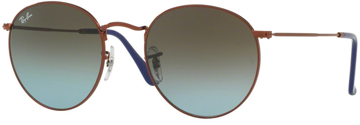 Ray-Ban Round Metal Bronze-Copper Sunglasses