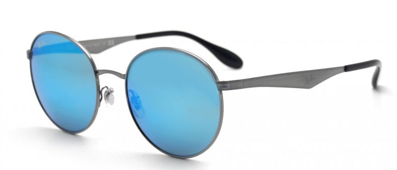 Ray-Ban Gunmetal Green Mirror Blue Sunglasses
