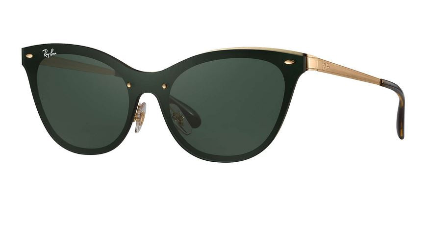 Ray-Ban Blaze Cat Eye Gold Womens Sunglasses