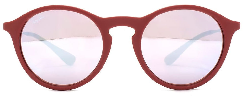 Ray-Ban Bordeaux Gunmetal Pink/Silver Lenses Sunglasses