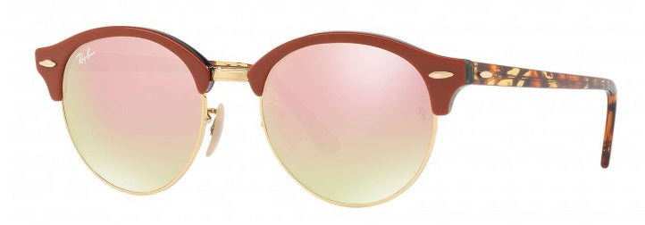 Ray-Ban Clubround Brown Sunglasses