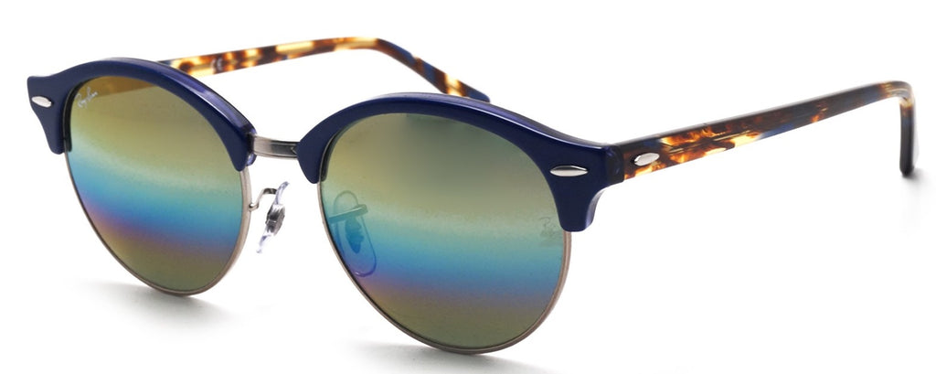 Ray-Ban Clubround Mineral Flash Lenses Blue Sunglasses