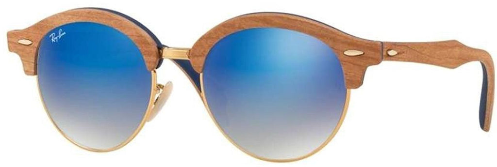 Ray-Ban Wood Iridium Round Sunglasses -