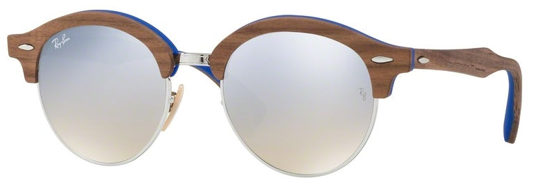 Ray-Ban Clubround Wood Brown Sunglasses