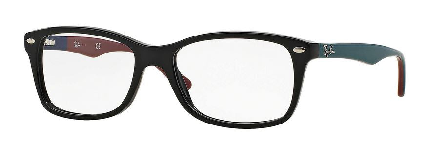 Matte Black Grey Eyeglasses